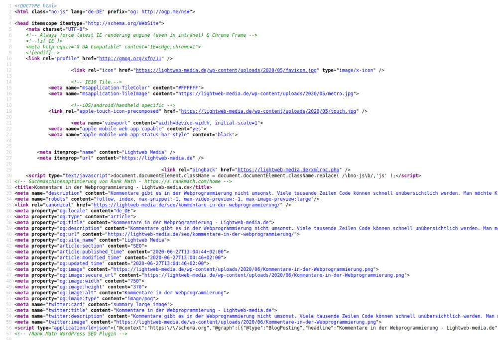 Quelltext HTML