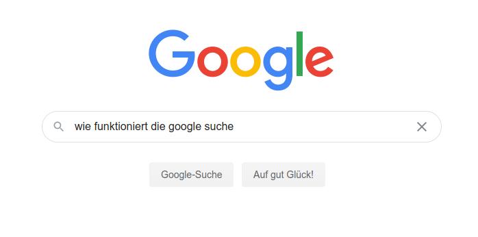 wie funktioniert die google suche