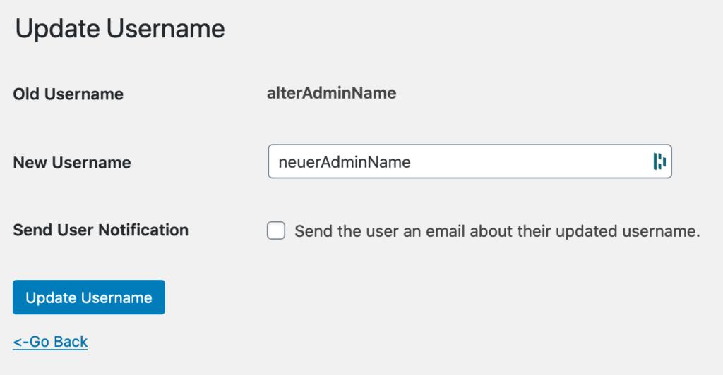 easy username changer bestätigung