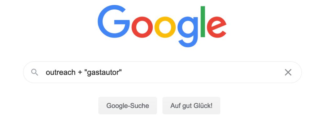 google outreach suche