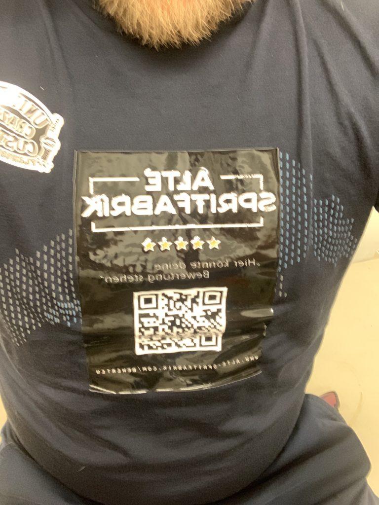 Bewertung auf Tshirt