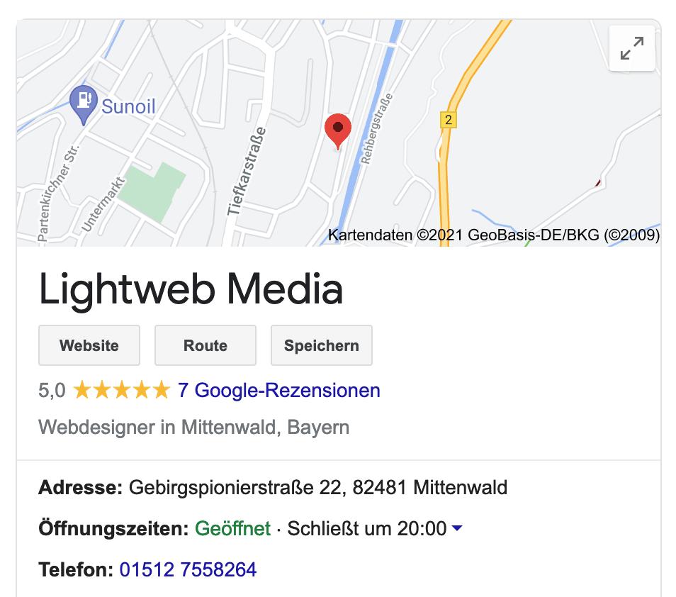 GoogleMyBusiness Bewertung